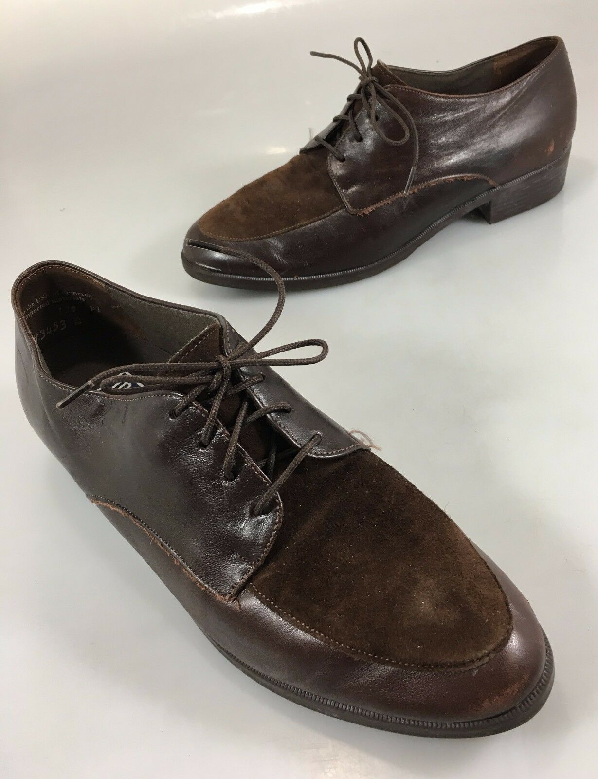 Munro American Sport Womens 9 M Brown Suede Leather Oxford Walking shoes