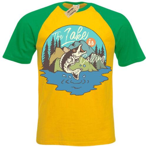Groß Fisch T-Shirt See Fischen Kurzärmelig Baseball