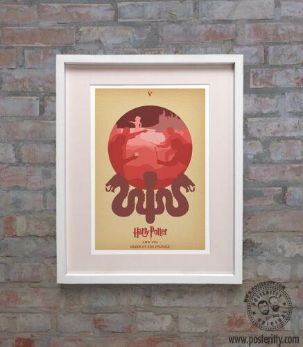 ORDER OF PHOENIX Minimalist Movie Poster Posteritty Minimal Potter Fan Art