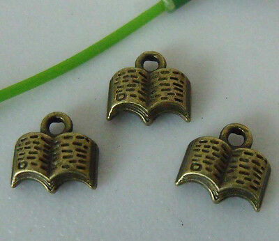 180pcs bronze plated book charms 11x11mm 1A747