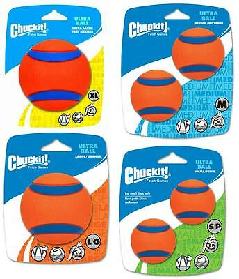 CHUCKIT! ULTRA BALL - Sm/Med/Lg/XL High Bounce Floats Fetch Use Launcher Dog Toy