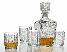 Studio Crystal Five Piece Whiskey Decanter and Glasses Set 44460