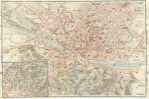 Firenze Cartina Geografica.Carta Geografica Antica Firenze Florence Pianta Citta Tci 1922 Old Antique Map Ebay