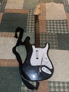 Rock Band Fender Strat Harmonix Nintendo Wii Guitar ControllerW/ Strap No Dongle