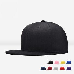 ce5e5efcd5d New Men Blank Plain Snapback Hats Unisex Hip-Hop Adjustable Bboy ...