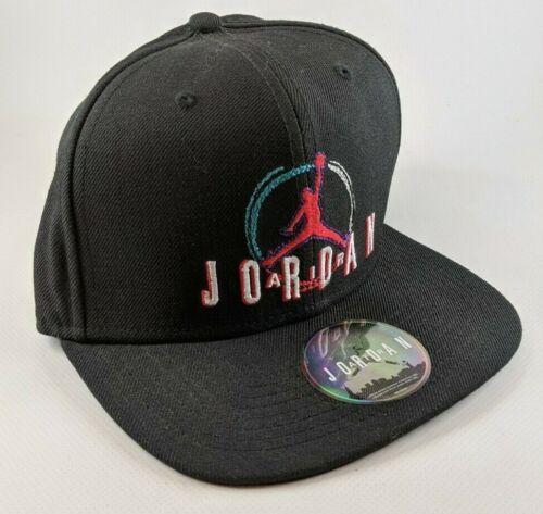 Air Jordan Black Black/Red Snapback Hat - RARE