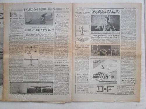 LES AILES 1939 924 D-342 GLENN MARTIN 166 AVIATION POSTALE DECOLLAGE VERTICAL