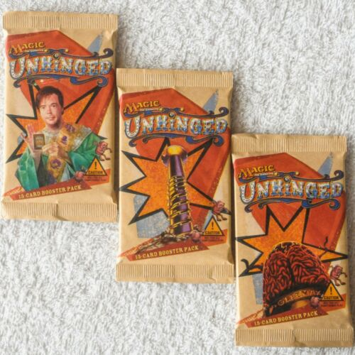 3 UNHINGED Sealed Booster Pack Lot from Box x3 Packs English MTG