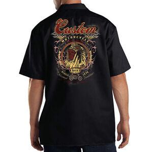 Dickies Black Mechanic Work Shirt Custom Motorcycle