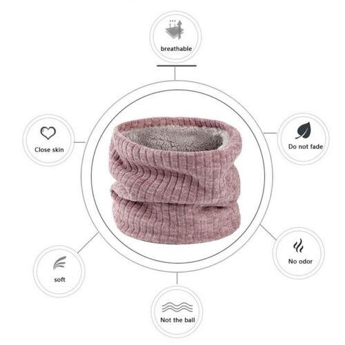 Neck Warmer Knitted Scarf Bandana Balaclava Gaiter Snood Cover Fleece Lined ~