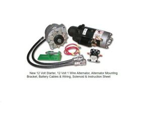 NEW ALTERNATOR STARTER 24V to 12V CONVERSION KIT JOHN DEERE 3010 3020 4010 4020