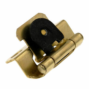 One Amerock Single Demountable 3 8 Overlay Partial Wrap Brass Hinge