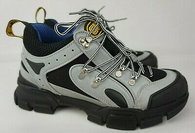 Gucci Flashtrek Sneakers Silver Leather
