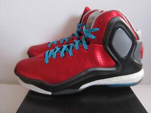 Chicago Adizero D C75943 Rojo Sz Bulls 5 9 5 Adidas Boost Negro Rose Derrick FAxvWq7