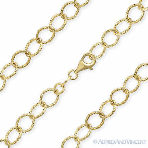 4mm Figaro Pave Link .925 Sterling Silver 14k Yellow Gold GP Italy Chain Anklet
