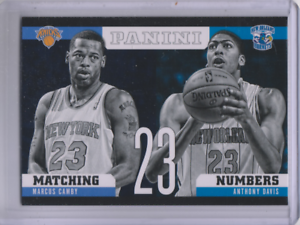 2012-13-Panini-Matching-Numbers-17-Anthony-Davis-Marcus-Camby-NM-MT