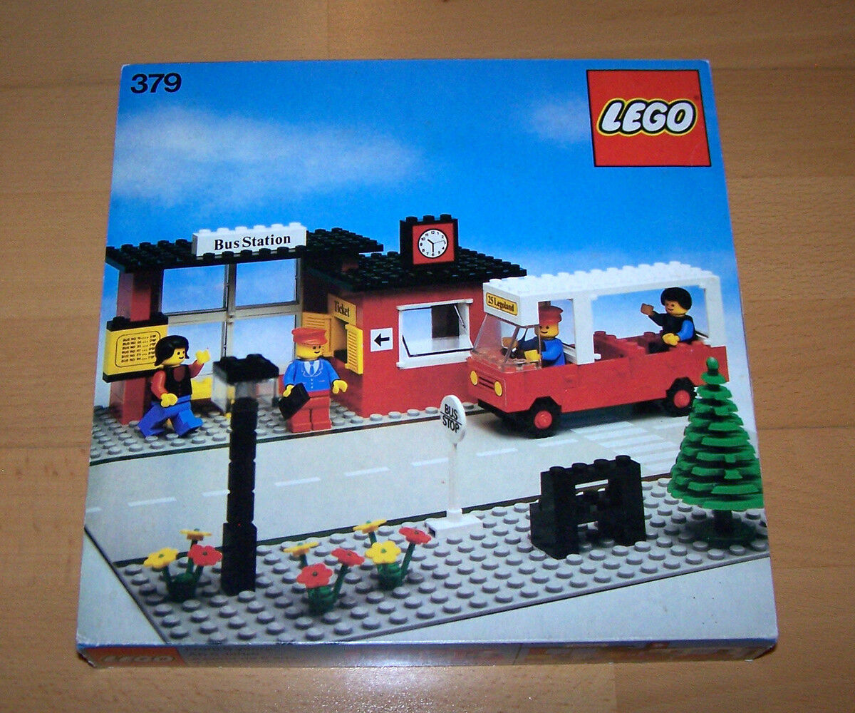 LEGO ® 379 Bushaltestelle   Bus Stop   Station   City   TOP + OVP