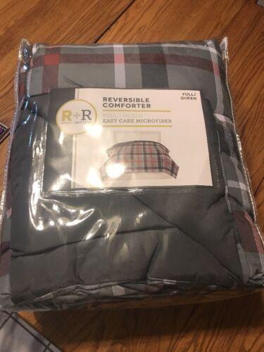 """R R Room  Retreat Reversible Comforter Full/Queen 86"""" X 92"""" 1 comforter"""