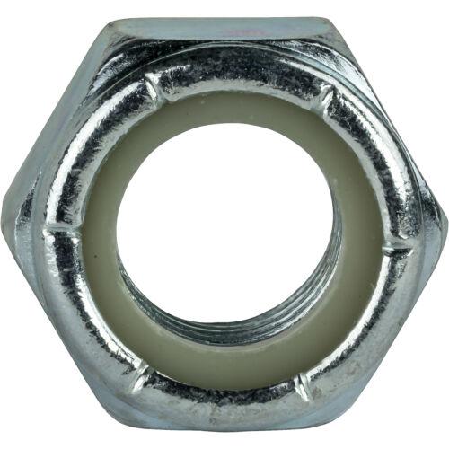#4-40 Nylon Insert Hex Lock Nuts Grade 2 Zinc Plated Steel Qty 100
