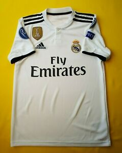 the latest 56ce5 75b40 Details about 5+/5 Real Madrid authentic jersey 2018 home shirt DH3372  soccer Adidas ig93