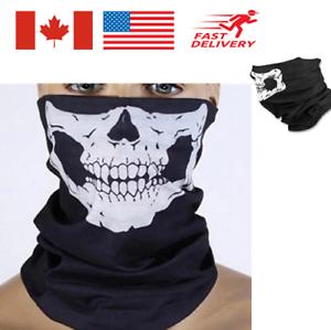 2Pack Skeleton Ghost Skull Face Mask Biker Balaclava Costume Halloween Cosplay