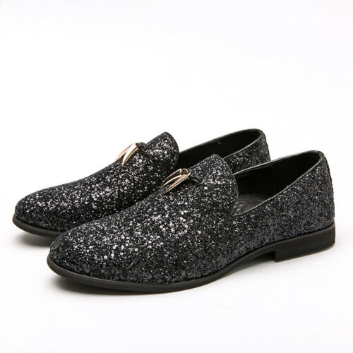 Details about  /Mens Dress Formal Fashion Faux Leather Shoes Shiny Loafers Slip on Party 38-46 L