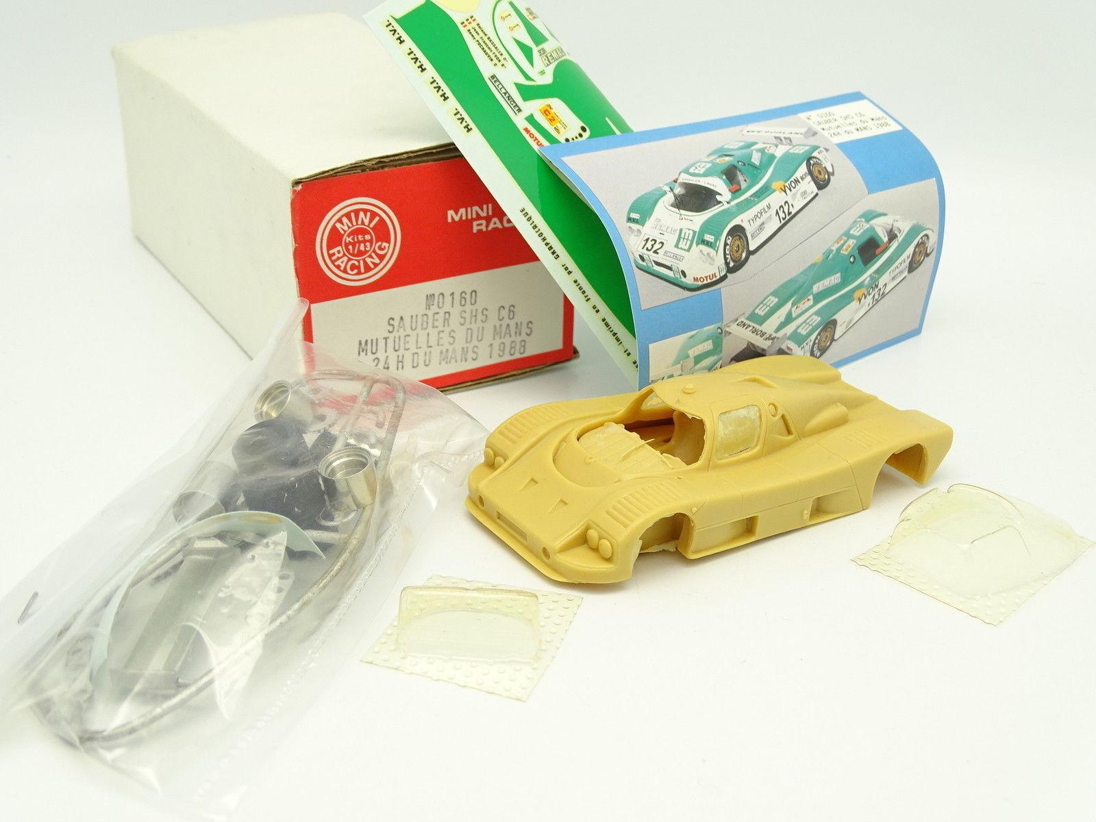 Mini Carreras Juego 1 43 - Sauber Shs C6 Mutuas de Mans Le Mans 1988