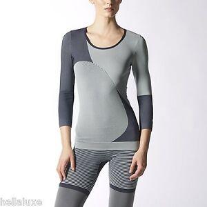1dcb73c5b04e24 nwt~Adidas Stella McCartney STUDIO 7/8 SEAMLESS TEE yoga Shirt Top ...
