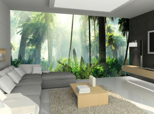 Jungle in the Fog Photo Wallpaper Wall Mural DECOR Paper Poster Free Paste