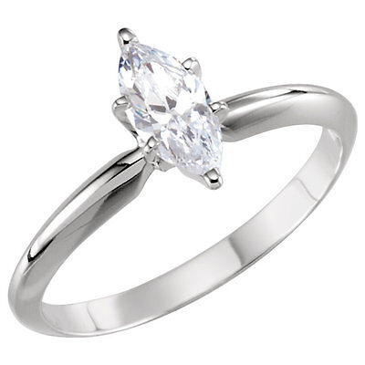 Details about  /2.5 ct Marquise Duo Prong Vintage Top Russian CZ Moissanite Simulant SS Size 7