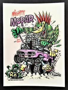 Mighty Mopar STICKER Roth Rat Fink Official Original