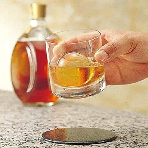 US 2 PCS Whiskey Ice Cube Ball Maker Mold Sphere Mould Party Tray Round Bar