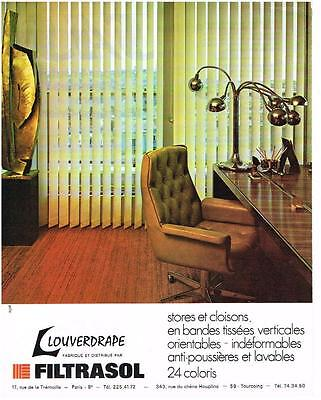 Collectibles Publicite 1972 Filtrasol Louverape Stores Other Breweriana