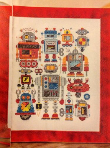 Robot Sampler By Emma Congdon Cross Stitch Chart C