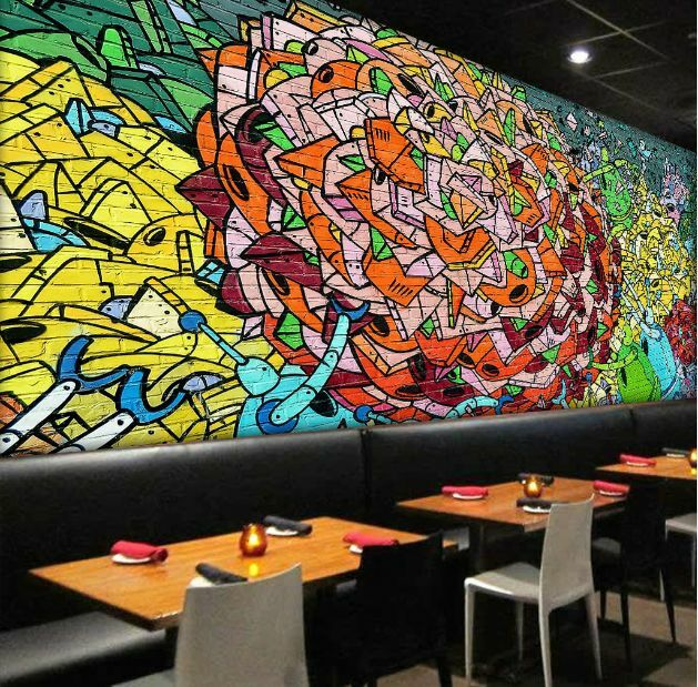 3D Graffiti 29393 Parete Murale Foto Carta da parati immagine sfondo muro stampa