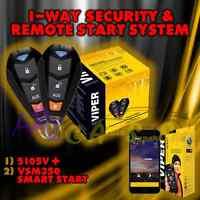 Viper 5105v 2015 Model 1 Way Car Alarm Remote Start + Vsm350 Gps Smart Start