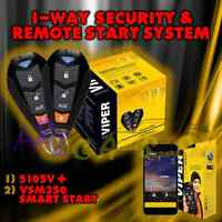 Viper 5105v 2015 Model 1 Way Car Alarm Remote Start + Vsm350 Gps Smart Start