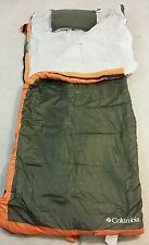 COLUMBIA Sunset Sleep II Camping Sleeping Bag w Pillow & Internal Foam Pad +30°F