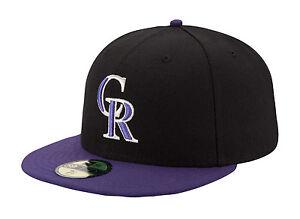 New-Era-59Fifty-MLB-Cap-Colorado-Rockies-Alt-1-AC-On-Field-Fitted-Hat-Black