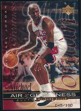 MICHAEL JORDAN 1999-00 UPPER DECK BRONZE #45/100 AIR OF GREATNESS!  JERSEY #!!!!