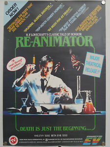 re-animator-1985-ROLLED-uk-video-shop-promo-film-poster-Stuart-Gordon