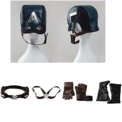 Captain America Civil War Costume Accessories Steve Rogers Strap Belt Props Mask