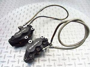 2000 00-03 Suzuki GSXR 750 GSXR750 Front Left Right Brake Caliper Pad Hose Line