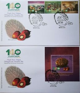 Malaysia FDC with MS & Stamps (18.05.2017) - 100th Ann of M'sian Oil Palm