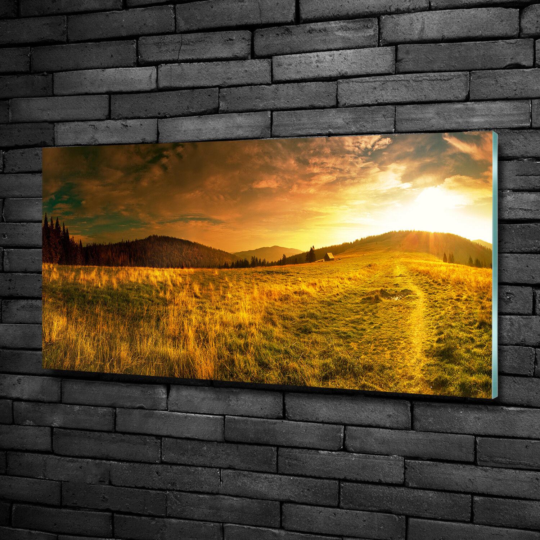Immagine Parete Vetro Immagine Stampa su vetro 100x50 Decorazione paesaggi Panorama montagne