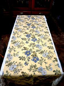 TABLE RUNNER/BED THROW - HANDMADE - Yellow Multi Floral - 122x22 - #TR479001