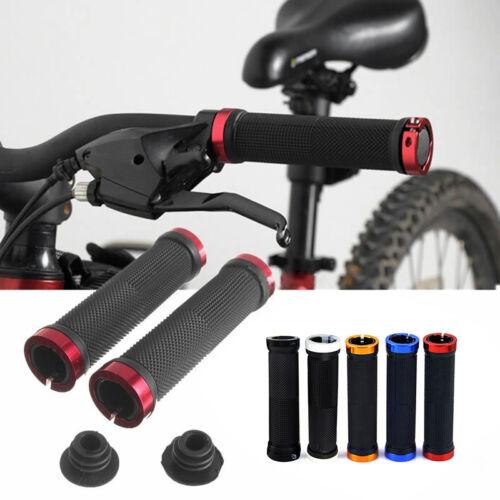 Metal Mountain BMX Bike Bicycle Double Lock On Locking Cycling Handle Bar Grips