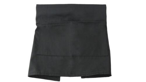 Black half court taille bistro poche tablier bar cafe pub serveur serveuse barista