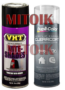 Nite Shades Clear Coat Tail Light Smoke Head Lens Black