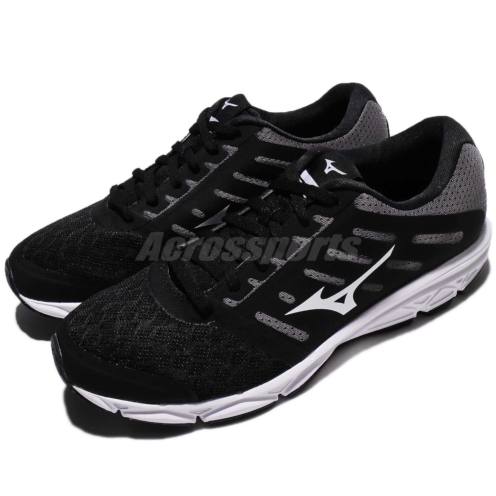 Mizuno Ezrun Run Noir Blanc Femme Running Chaussures Sneakers Trainers J1GF18-3801